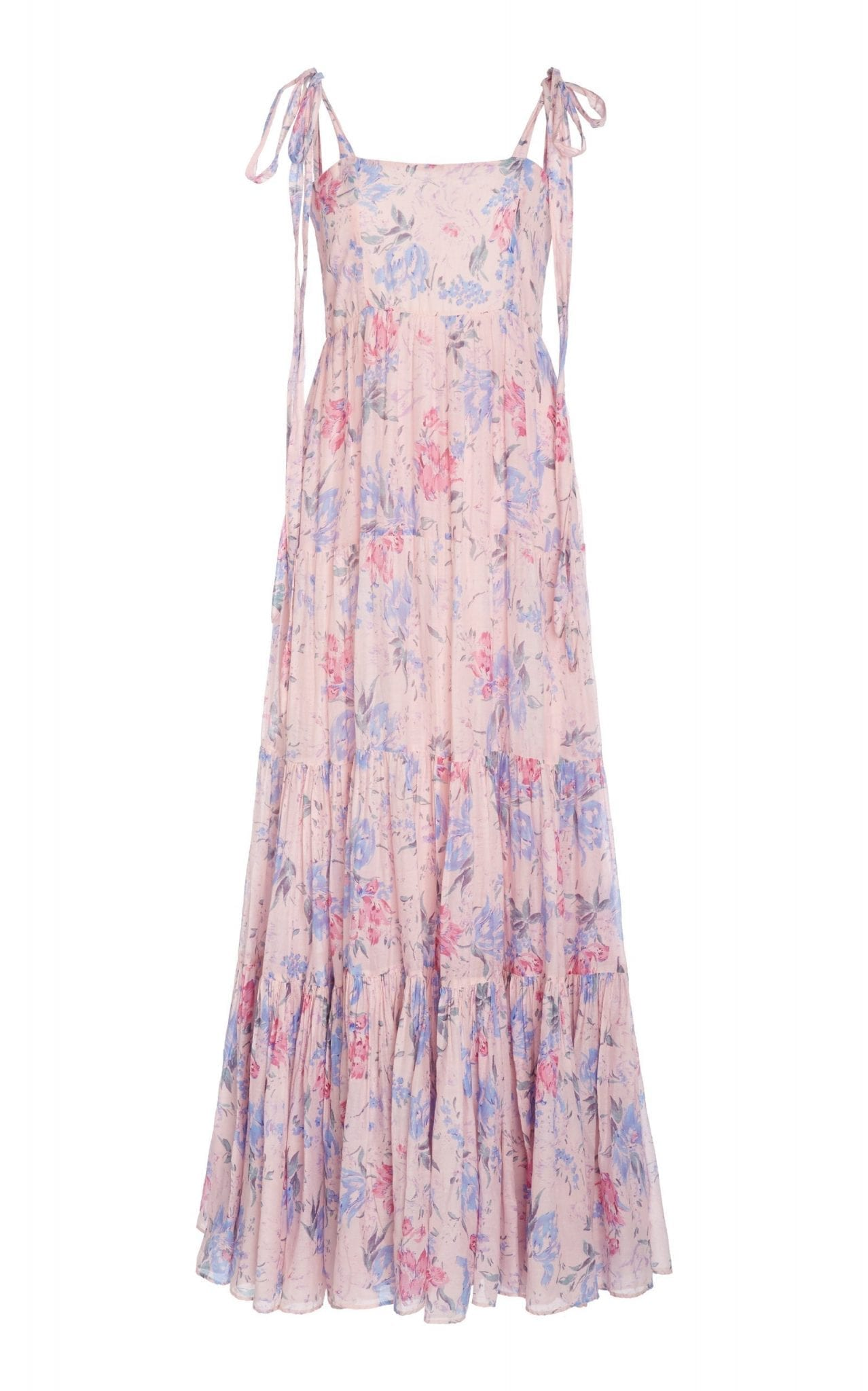 LOVESHACKFANCY Burrows Floral-Print Cotton-Blend Maxi Dress