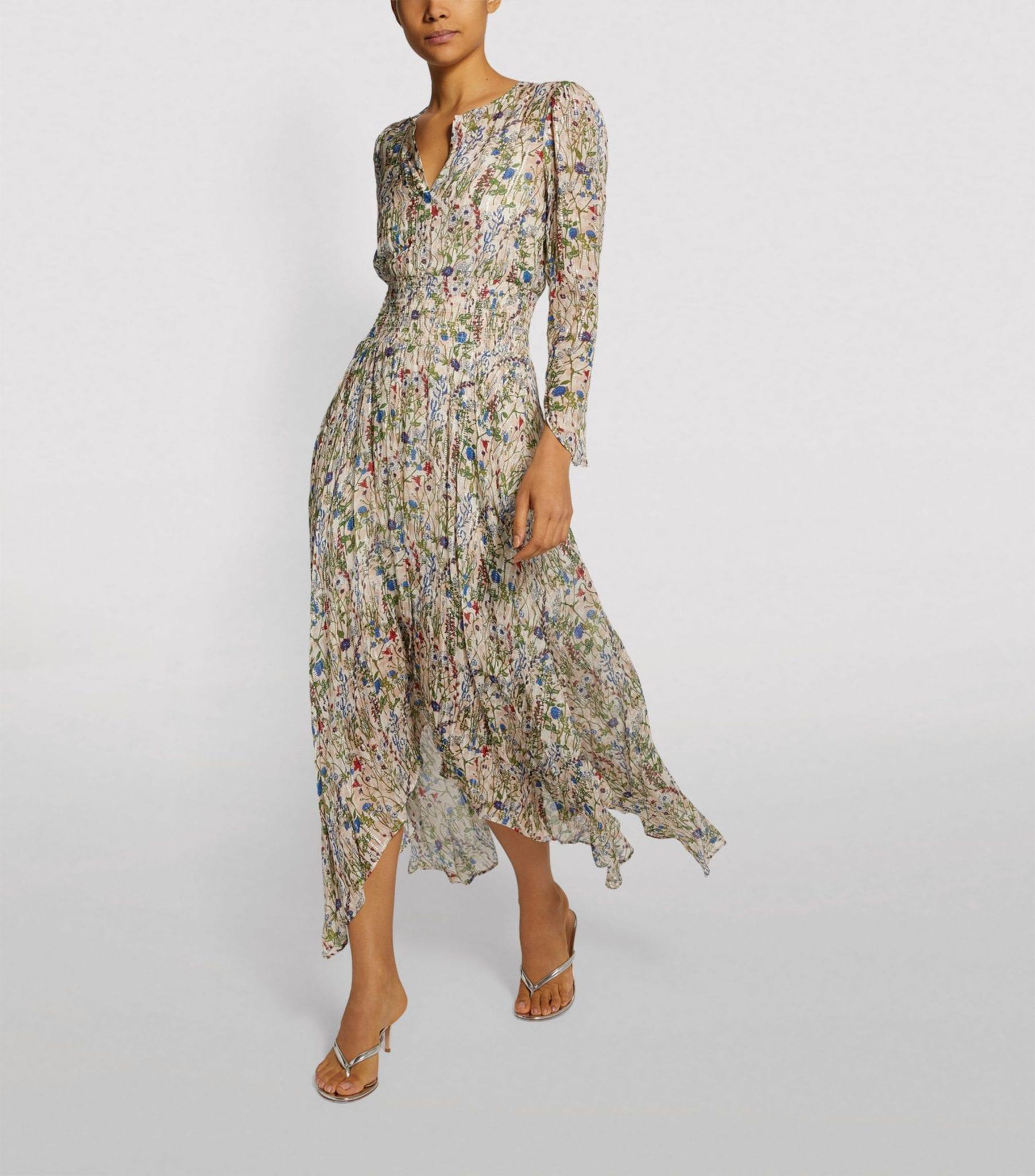 MAJE Floral Midi Dress