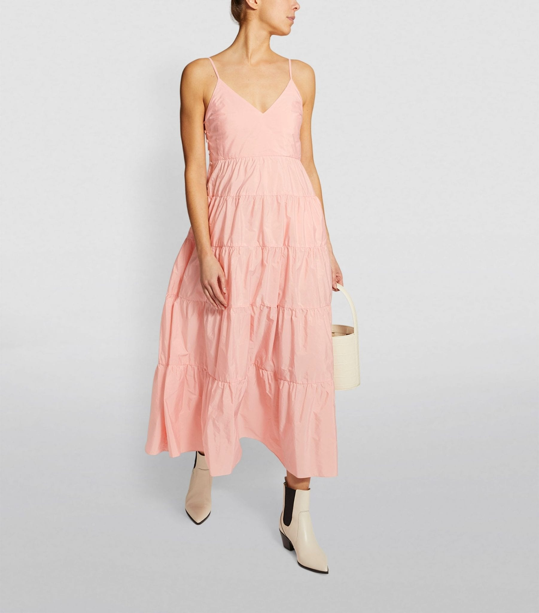 MAJE Tiered Maxi Dress