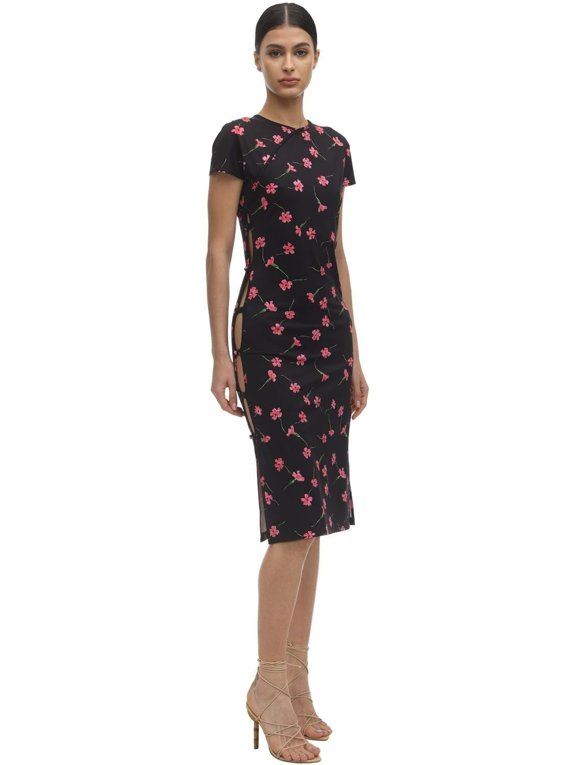 MARCIA Open Sides Floral Econyl Dress