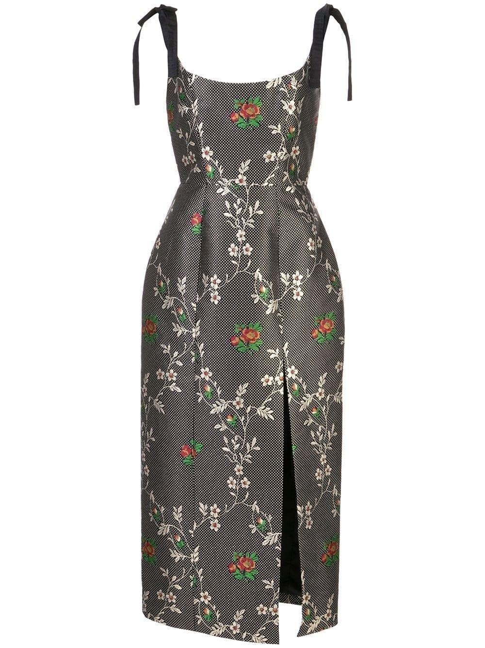 MARKARIAN Floral Print Monroe Corset Dress