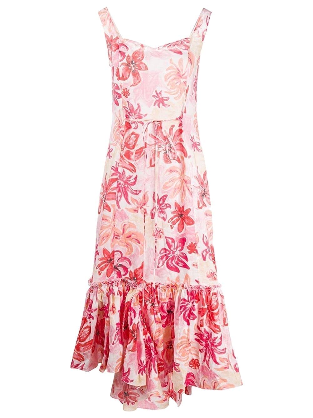 MARNI Pink Tropical Flower Print Dress