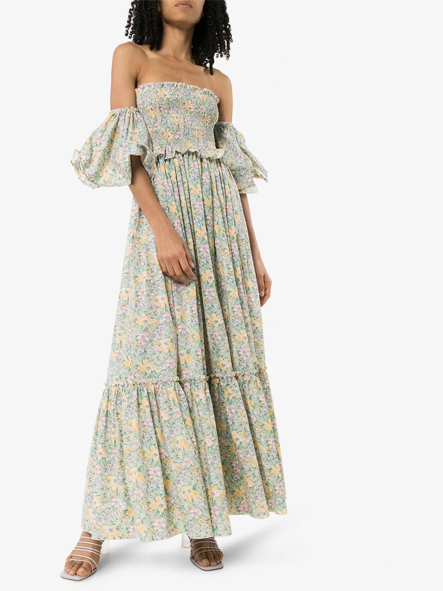 MASTERPEACE Floral Print Cotton Maxi Dress