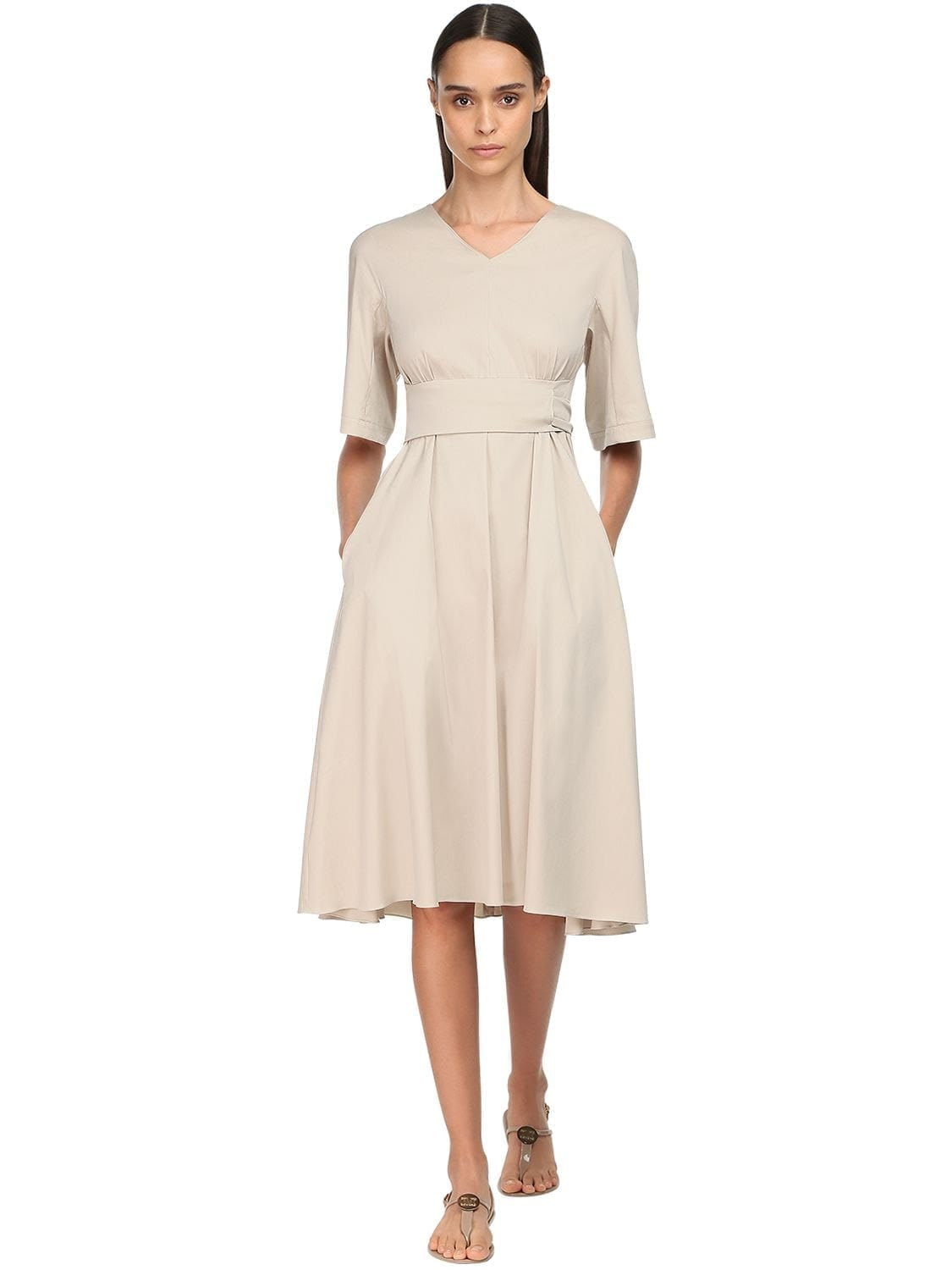 MAX MARA 'S Stretch Cotton Blend Dress