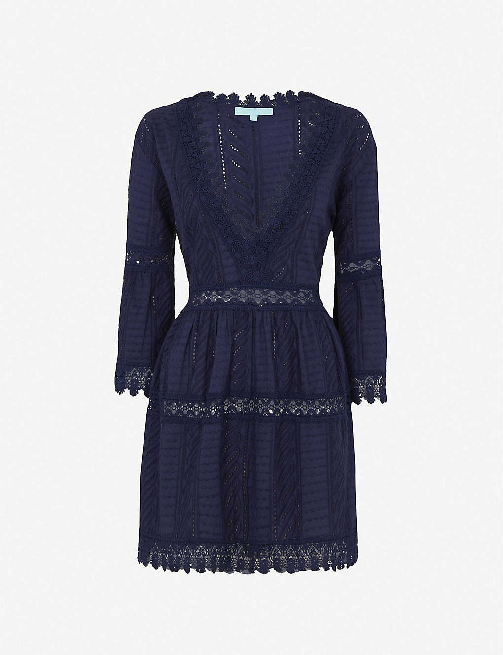 MELISSA ODABASH Victoria Broderie Anglais Cotton Mini Dress