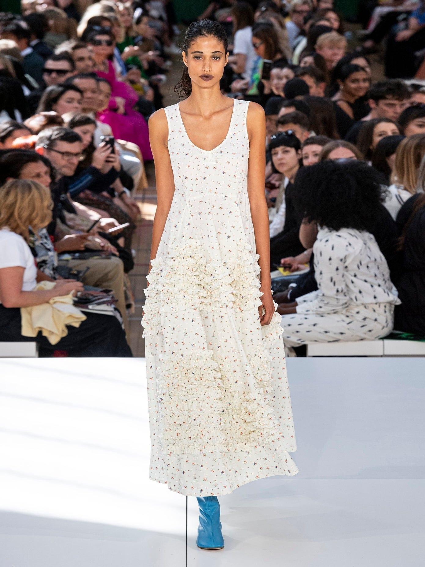 MOLLY GODDARD Serena Ruffled Godet-hem Floral-print Cotton Dress
