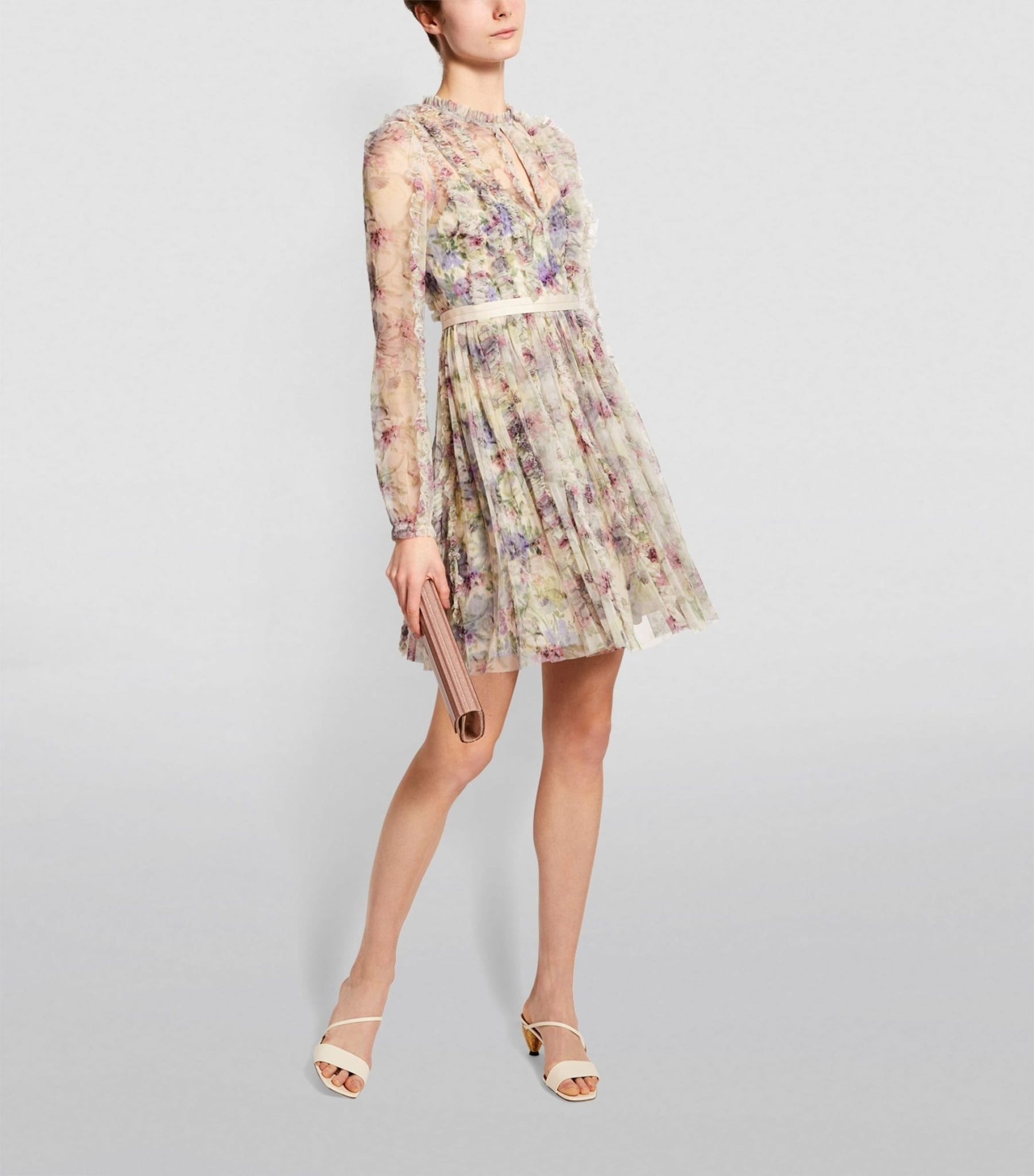 NEEDLE & THREAD Lilacs Garland Mini Dress