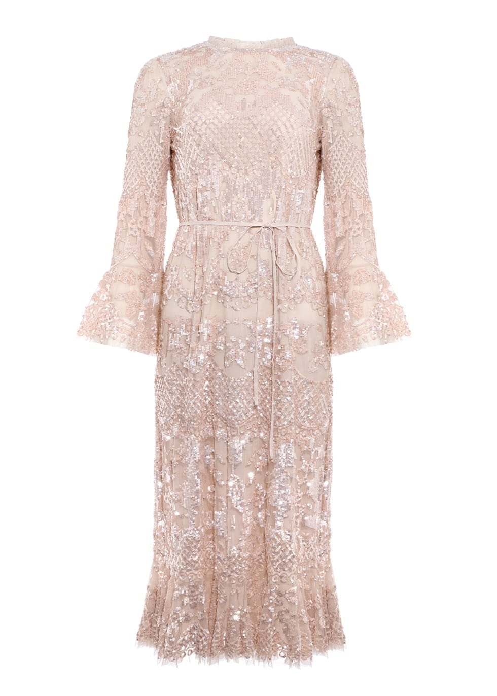 NEEDLE & THREAD Snowdrop Blush Sequin-embellished Tulle Gown
