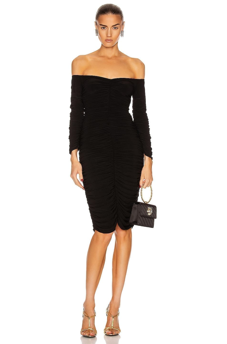 NORMA KAMALI Off Shoulder Slinky Dress