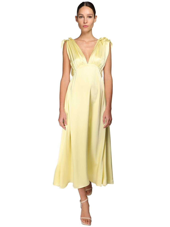 NYNNE Silk Satin Midi Dress