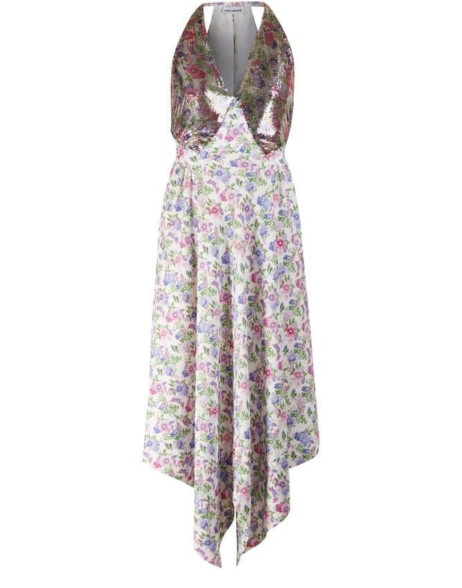 PACO RABANNE Floral Print Dress