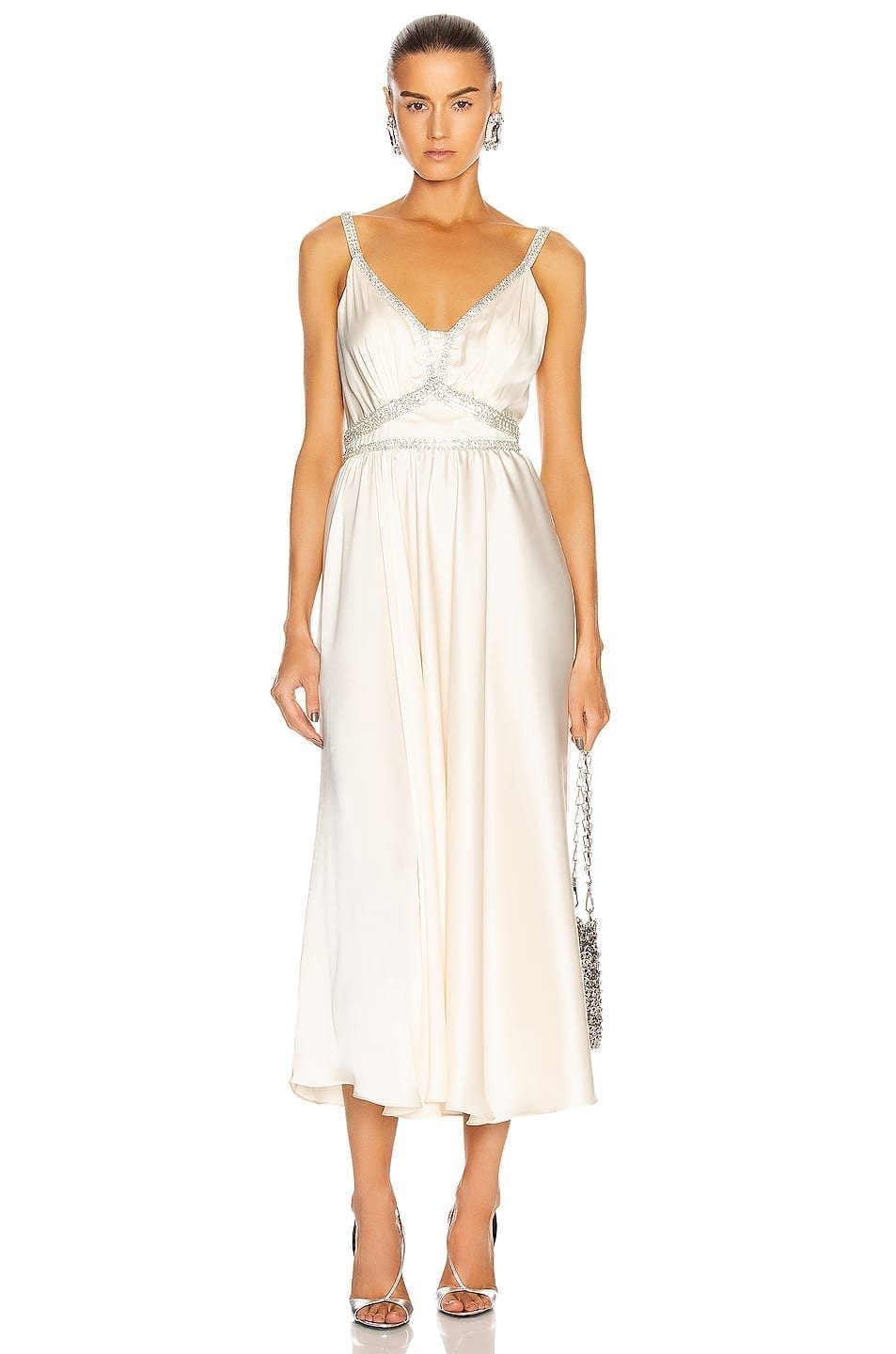 PACO RABANNE Light Satin Gown