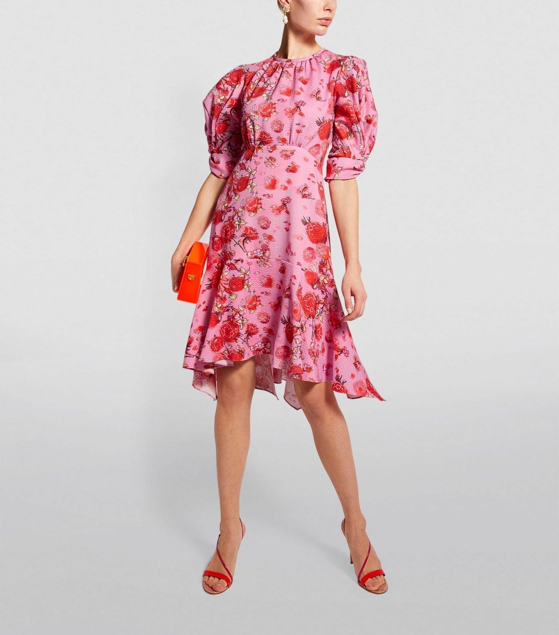 PETER PILOTTO Floral Waffle Mini Dress