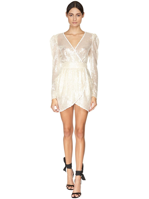 PHILOSOPHY DI LORENZO SERAFINI Sequined Mini Dress