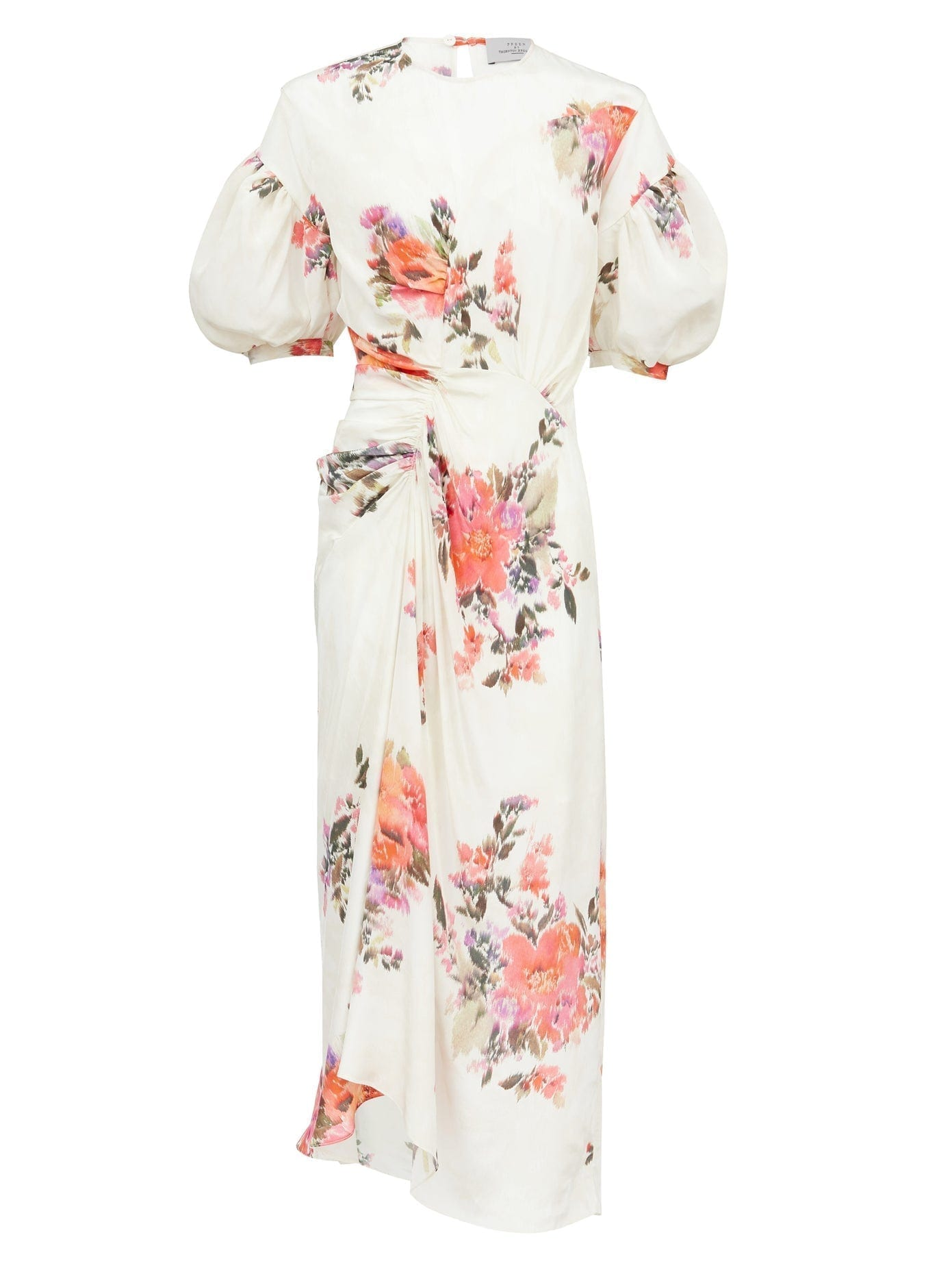 PREEN BY THORNTON BREGAZZI Bianca Floral-print Crepe De Chine Midi Dress