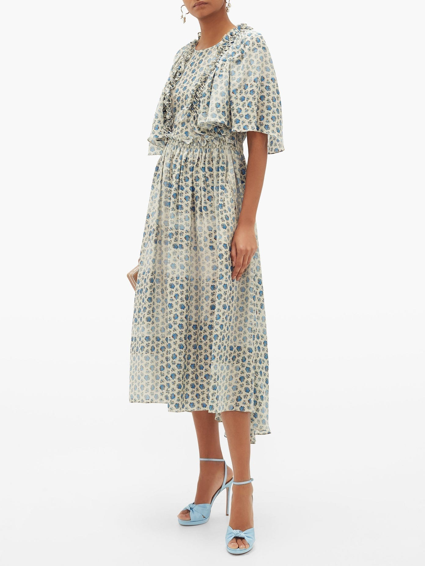 PREEN BY THORNTON BREGAZZI Malu Ruffled Floral-print Crepe Dress