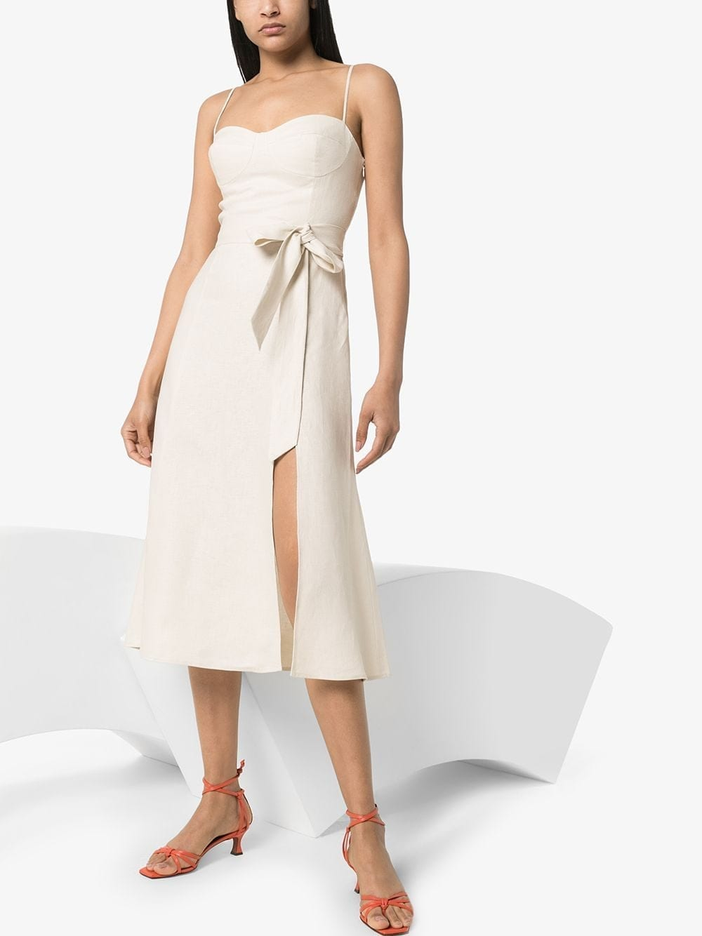 REFORMATION Sweetheart-neck Midi Dress