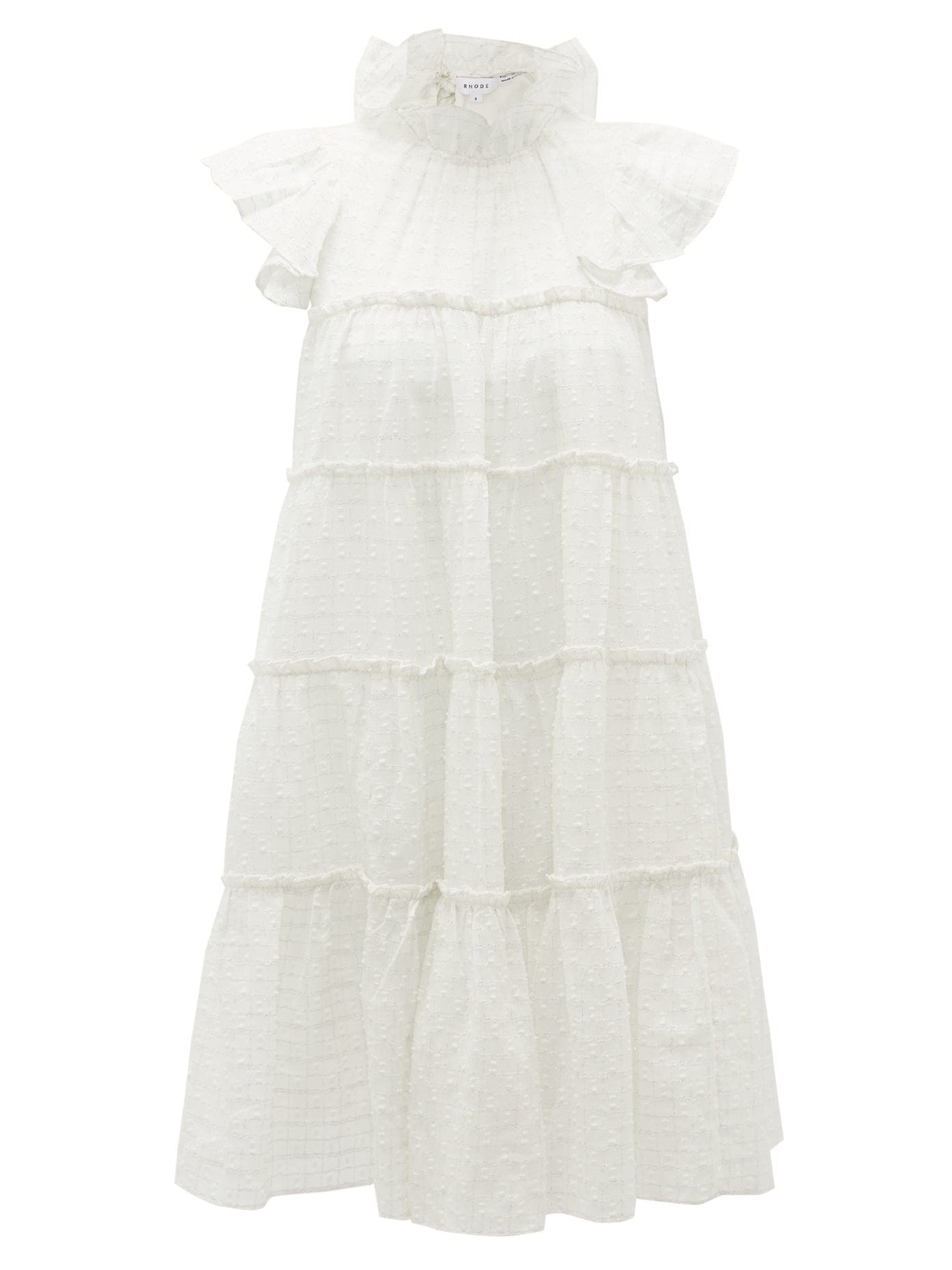 RHODE Tiffany Ruffled Cotton-blend Mini Dress