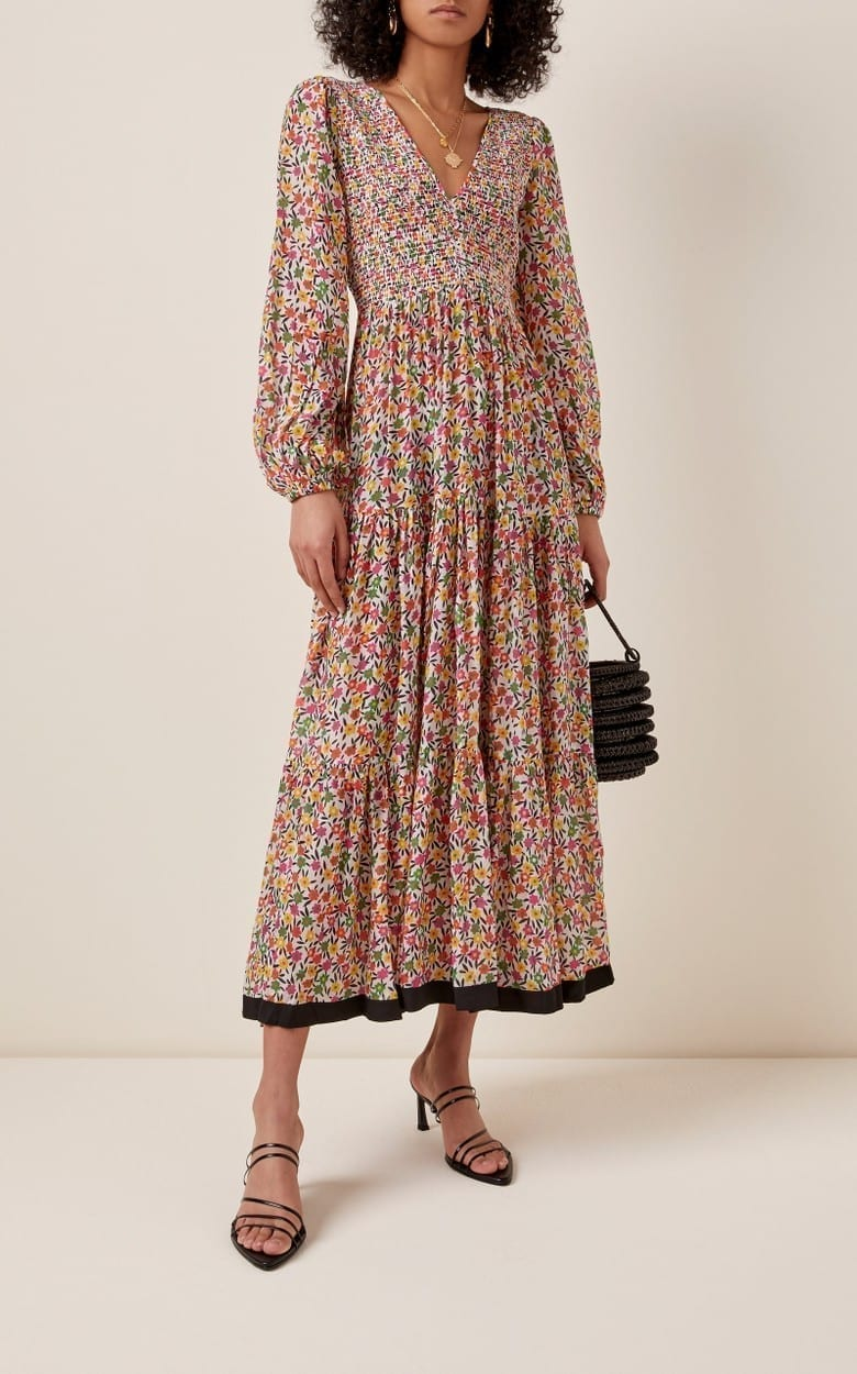 RIXO Brooke Printed Georgette Maxi Dress