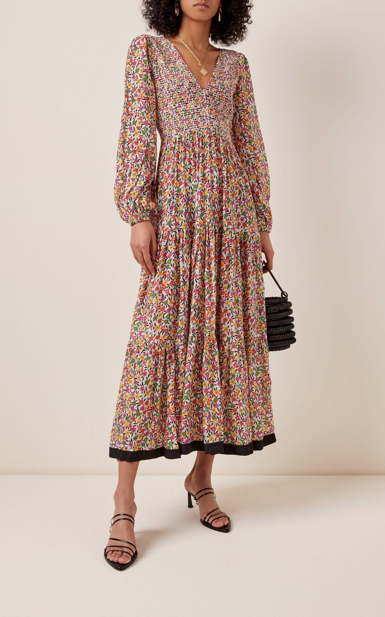 RIXO Brooke Printed Georgette Midi Dress