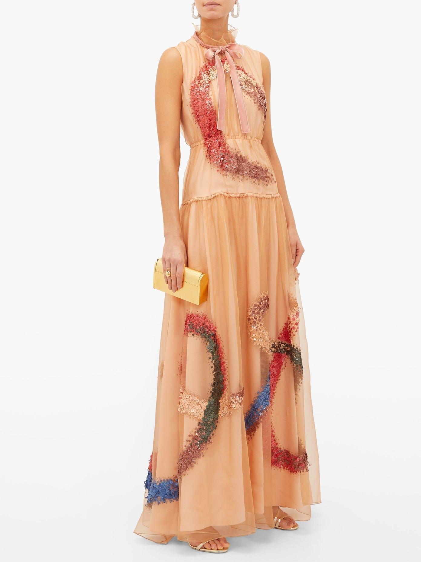 ROKSANDA Giona Sequinned Silk-organza Gown