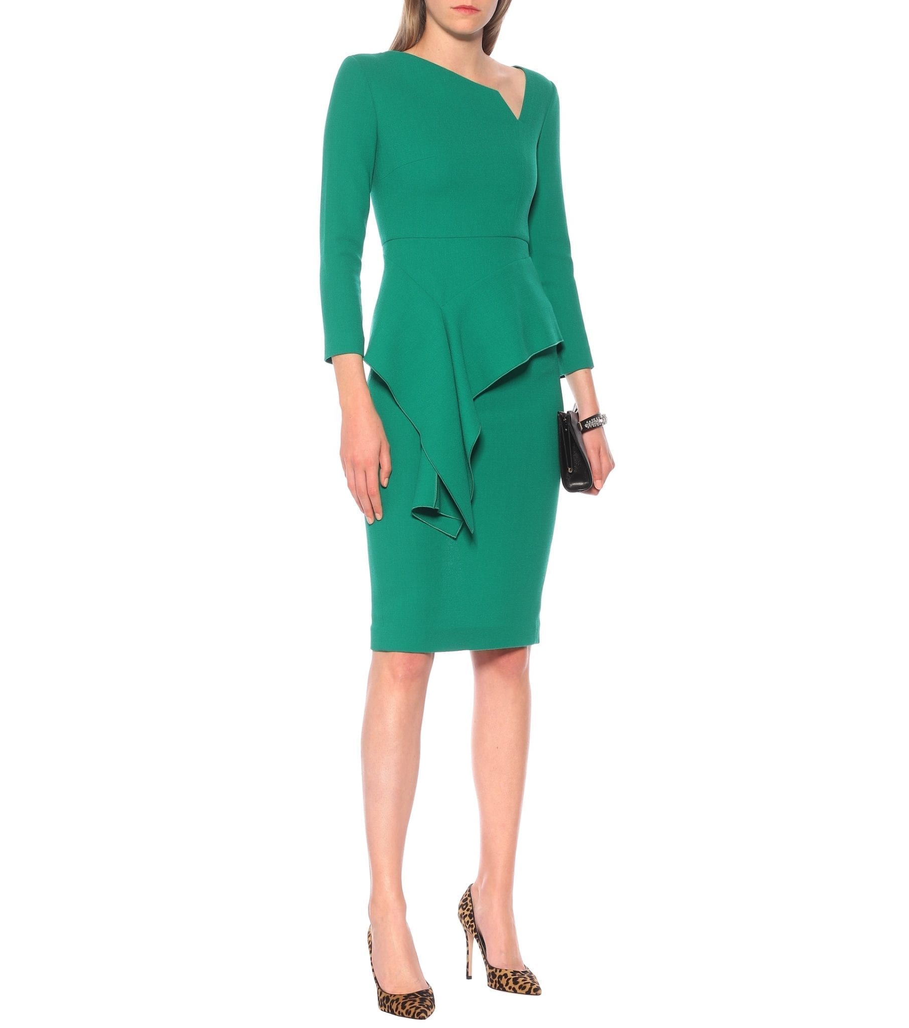 ROLAND MOURET Exclusive To Mytheresa – Abbaye Wool-crêpe Midi Dress