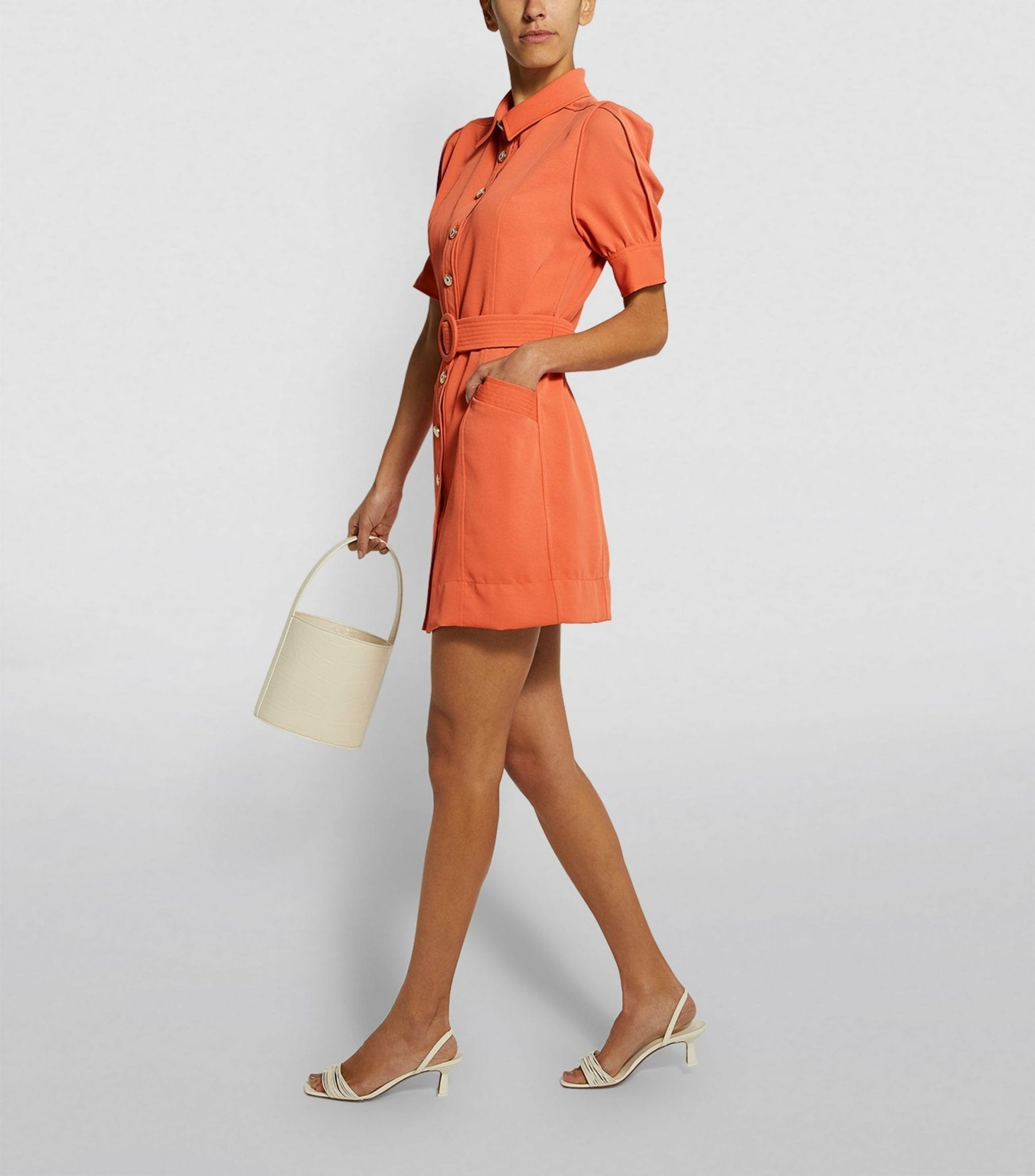 SANDRO PARIS Belted Mini Dress
