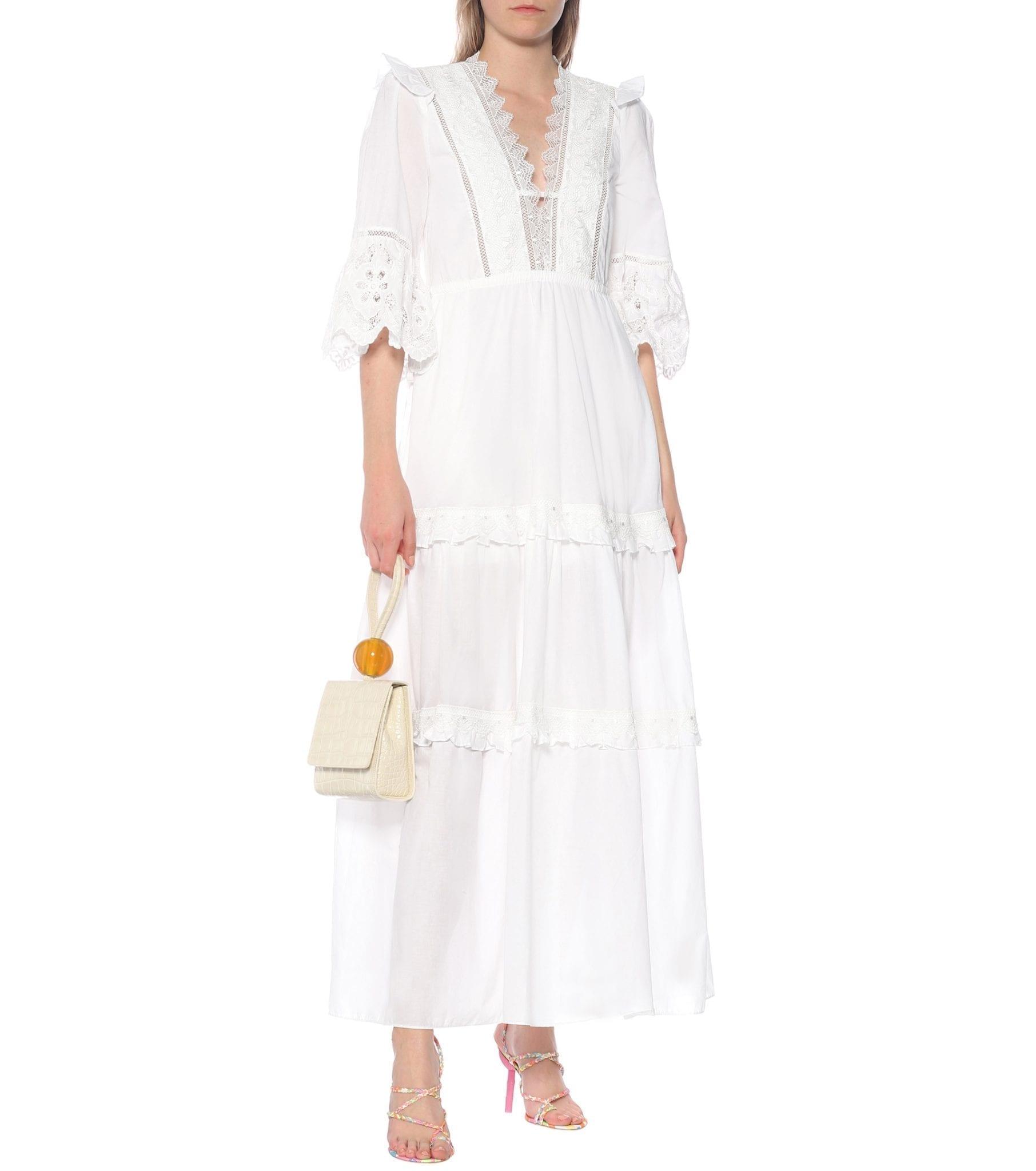 SELF-PORTRAIT Cotton-Voile Maxi Dress
