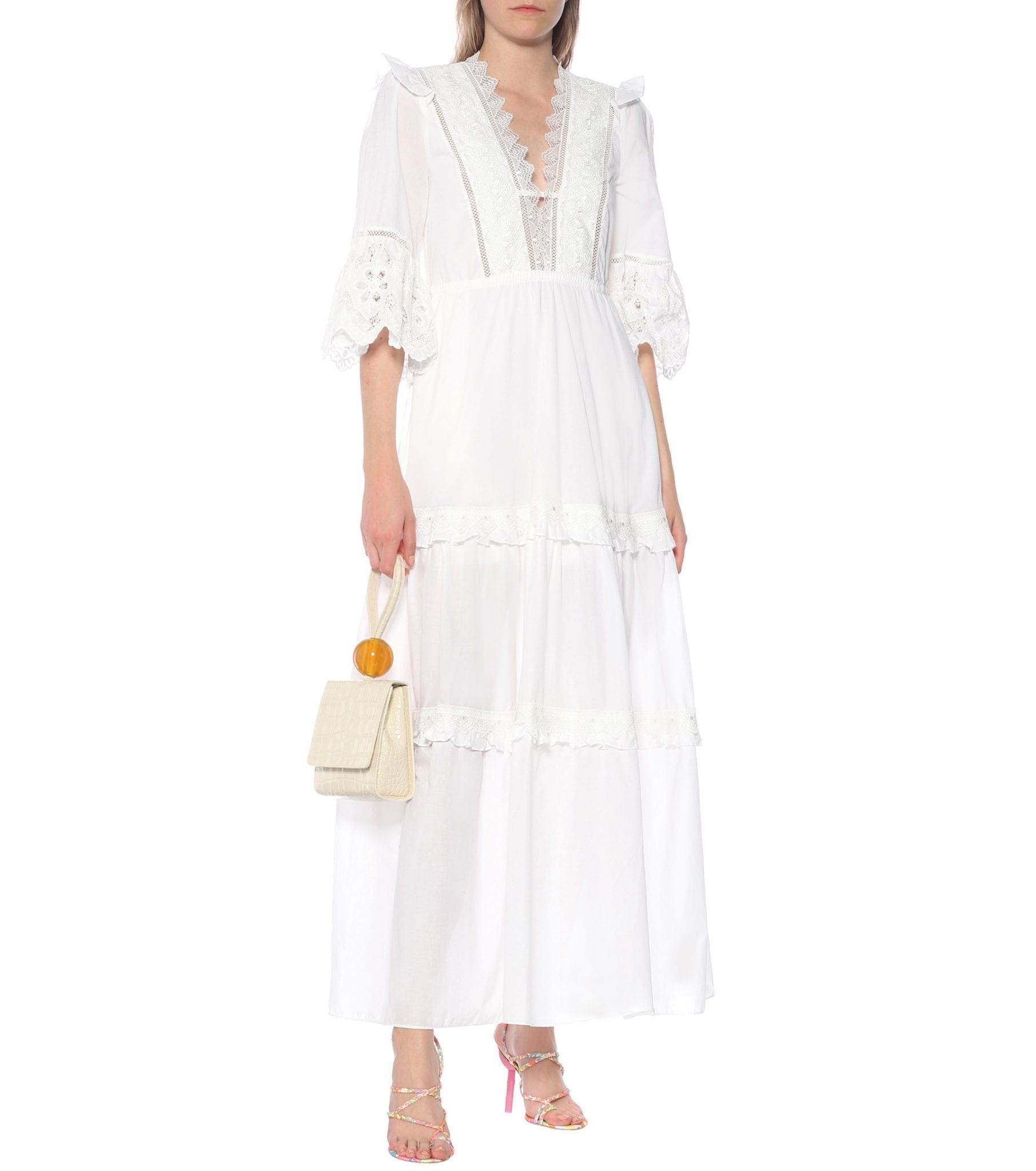 SELF-PORTRAIT Cotton-Voile Maxi Dress
