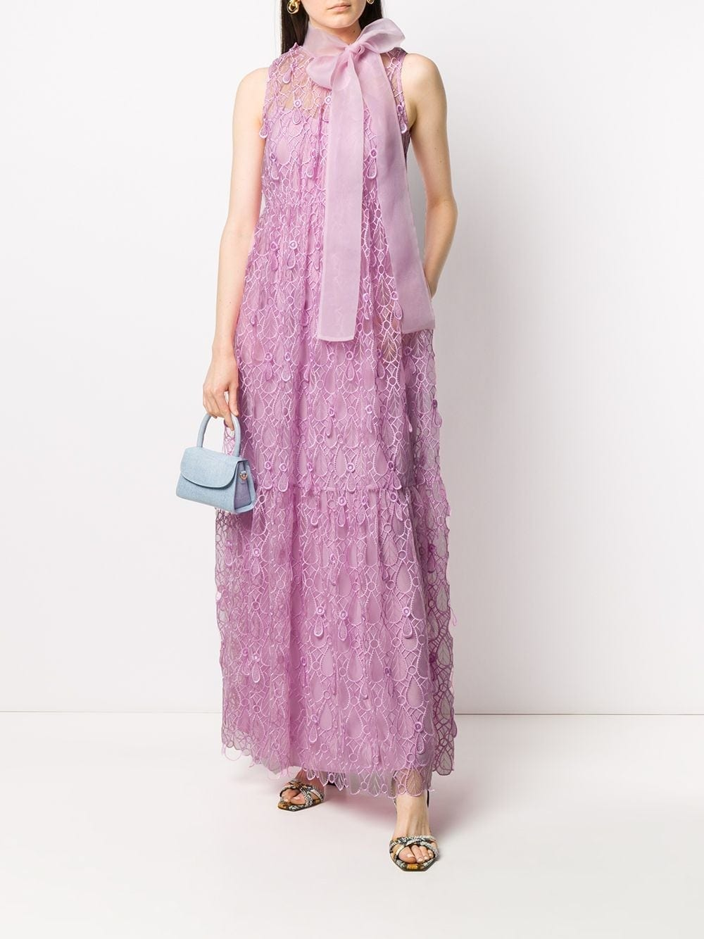 SELF-PORTRAIT Embroidered Teardrop Dress