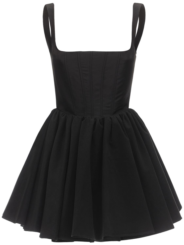 SILVIA ASTORE Annie Silk Faille Mini Dress