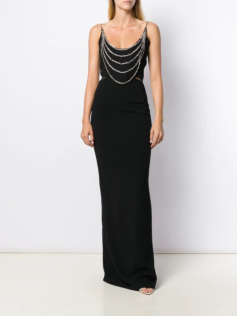 STELLA MCCARTNEY Black Crystal Embellished Gown