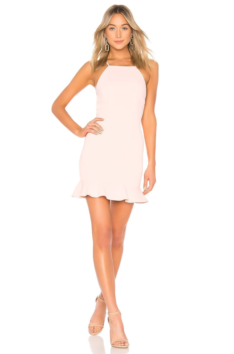 SUPERDOWN Darlah Tie Back Frill Dress