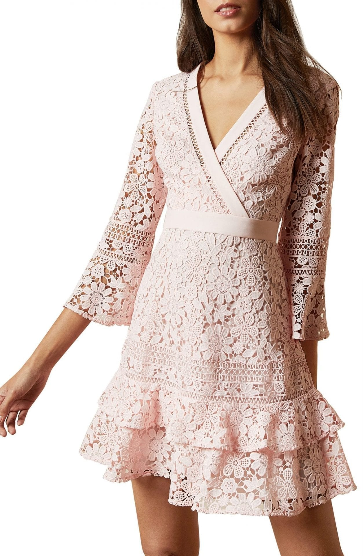 TED BAKER LONDON Nello Fit & Flare Lace Dress