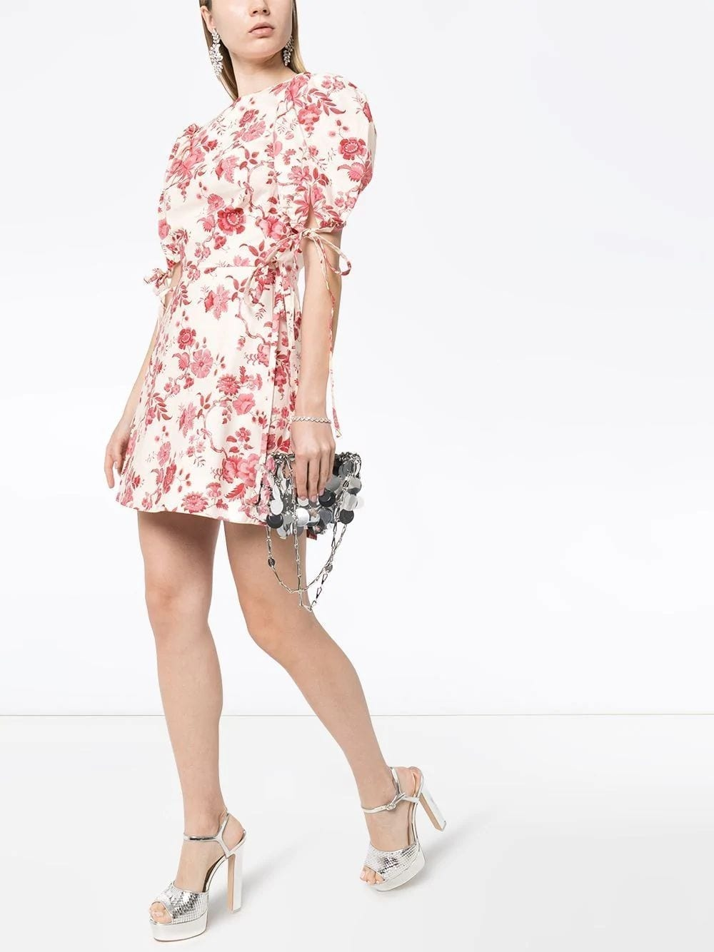 THE VAMPIRE'S WIFE Red Floral Wrapsody Mini Dress