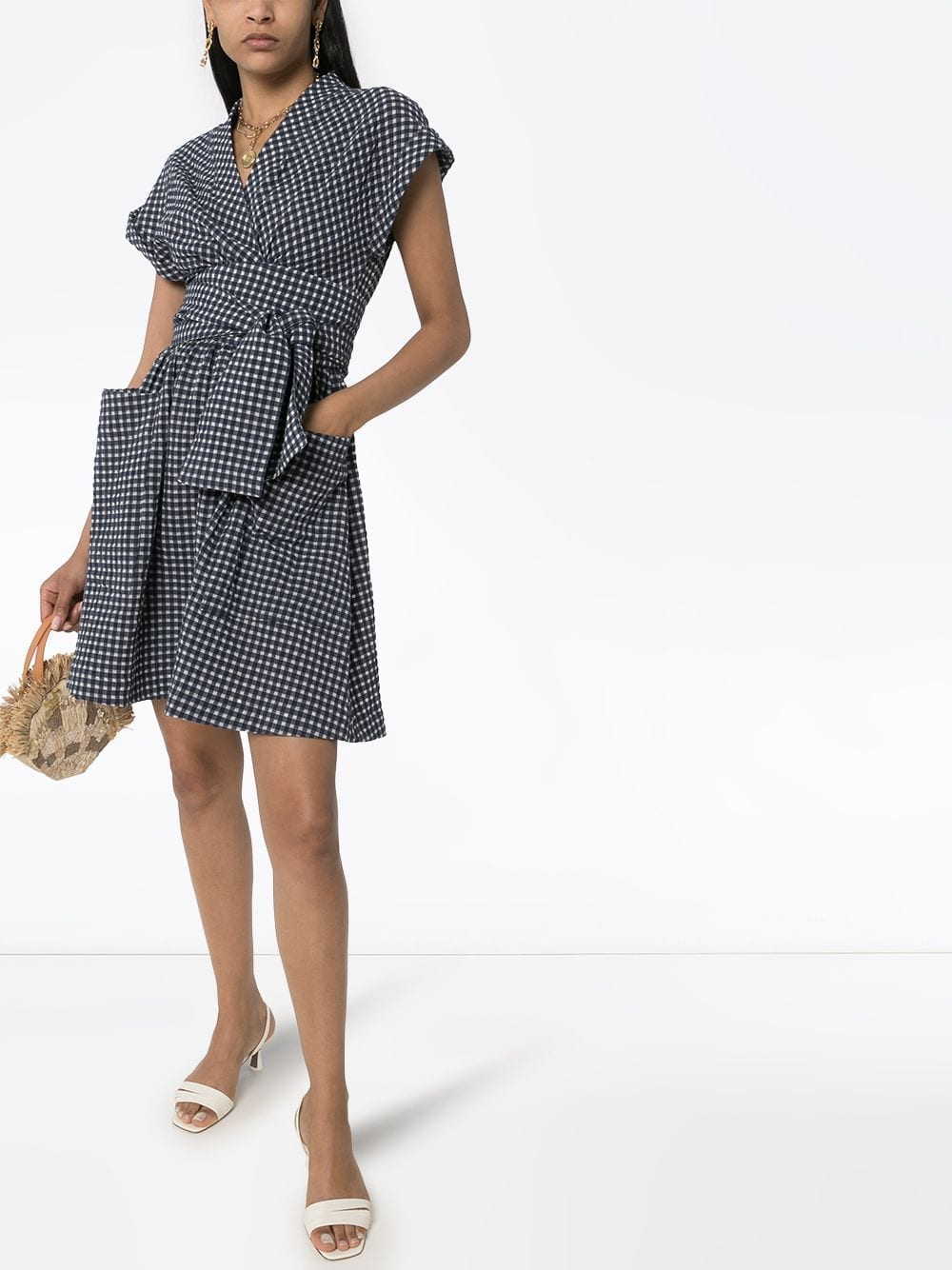 THREE GRACES Aurora Gingham Print Dress
