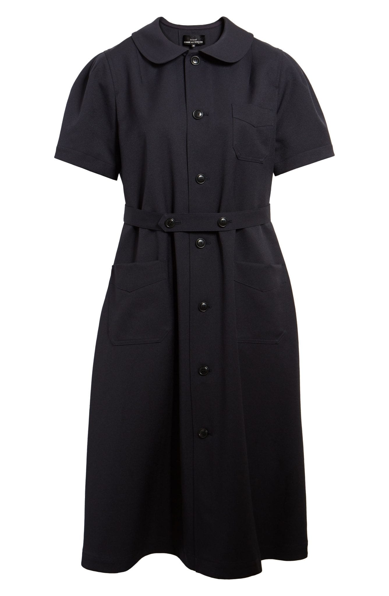 TRICOT COMME DES GARÇONS Peter Pan Collar Midi Shirt Dress