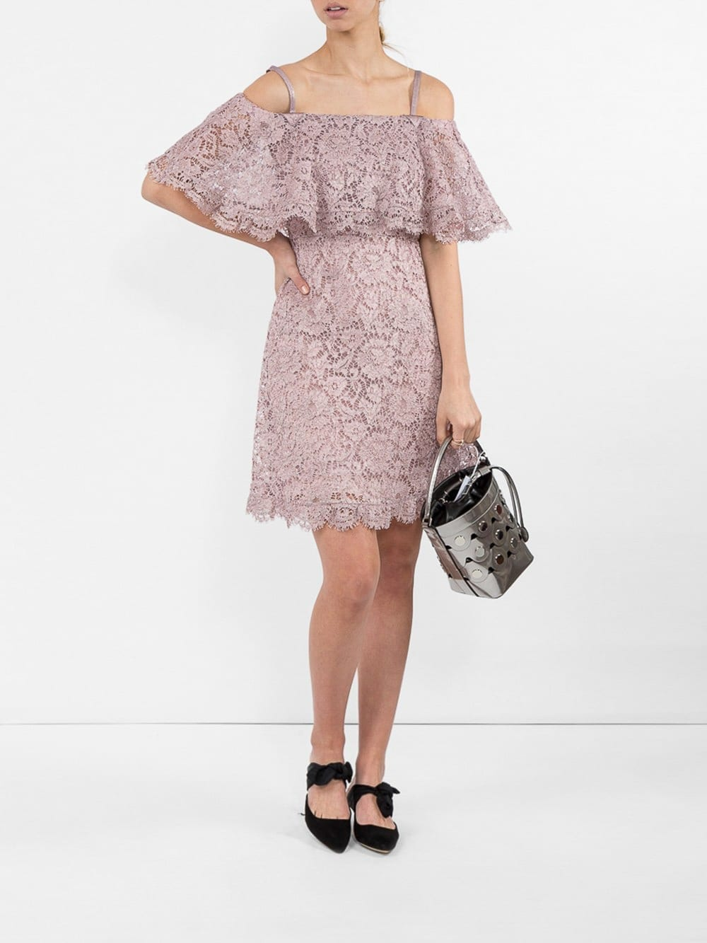 VALENTINO Cotton-Blend Lace Mini Dress