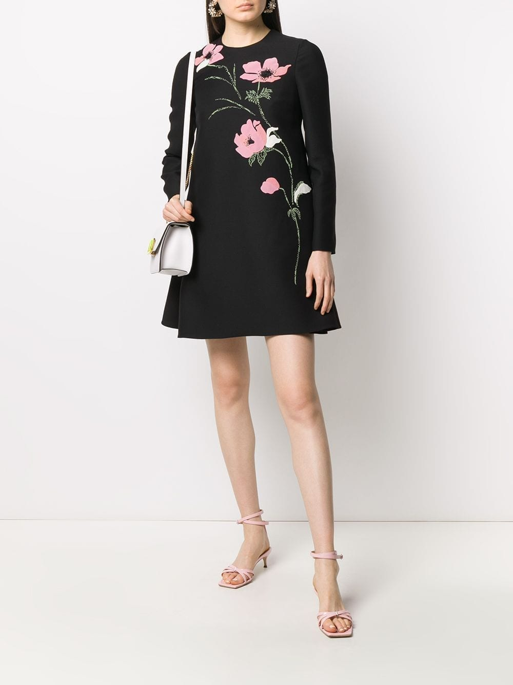 VALENTINO Embroidered Shift Dress