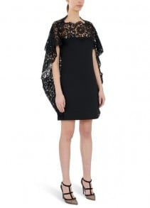 VALENTINO Lace Yoke Dress