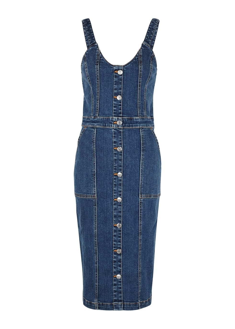 VERONICA BEARD Leone Blue Denim Dress