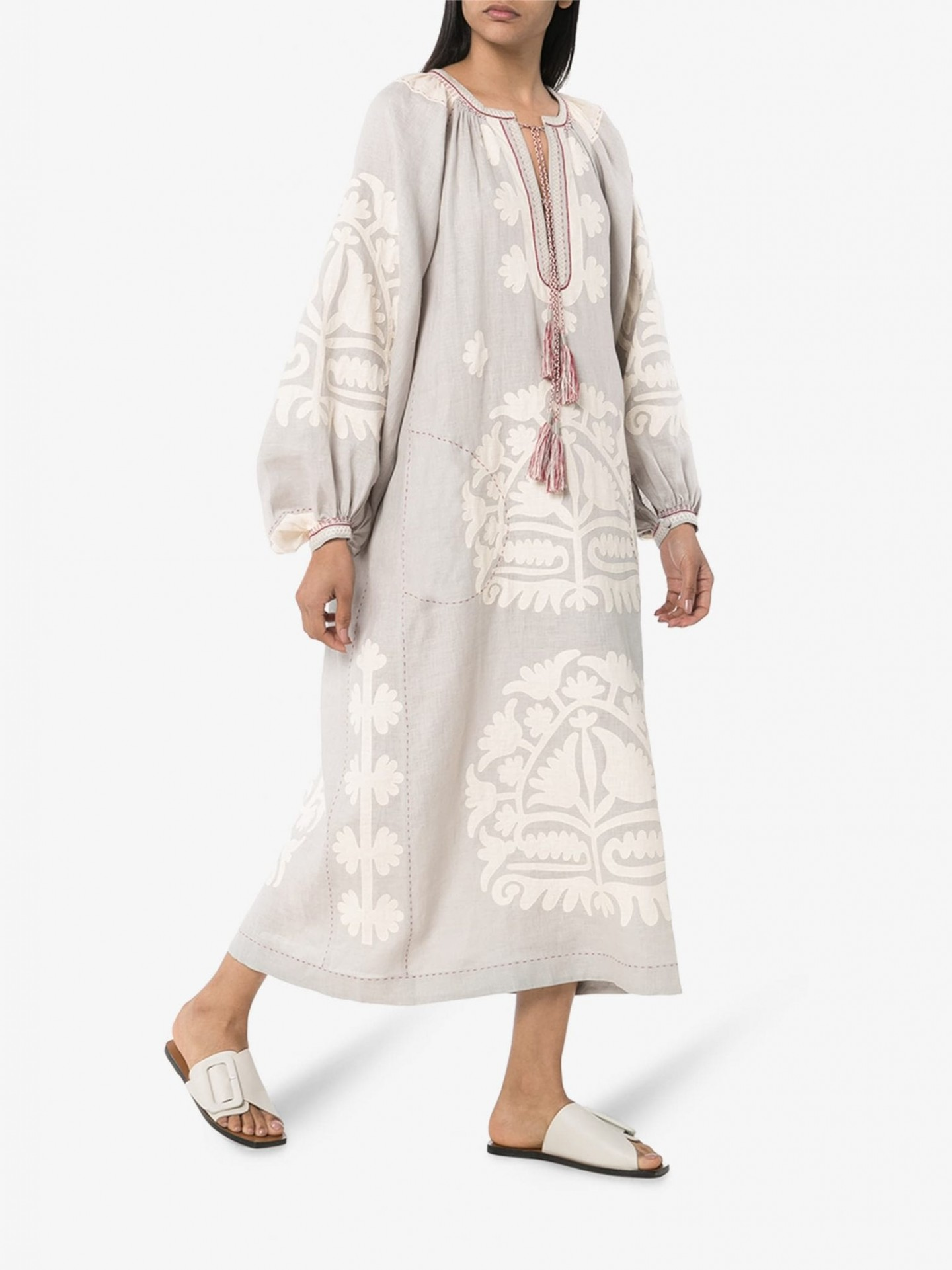 VITA KIN Fiji Embroidered Kaftan Dress