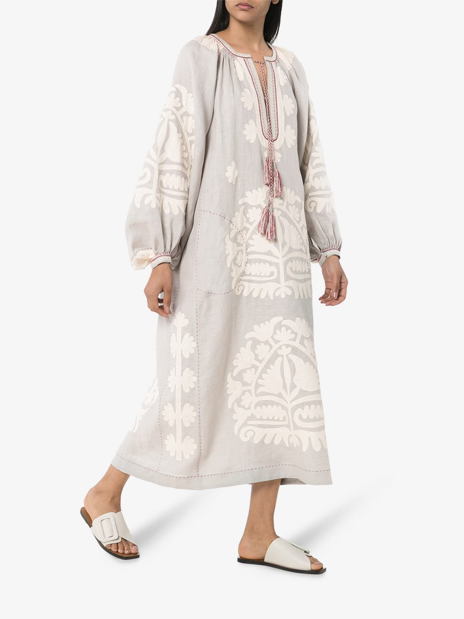 VITA KIN Fiji Embroidered Kaftan Dress