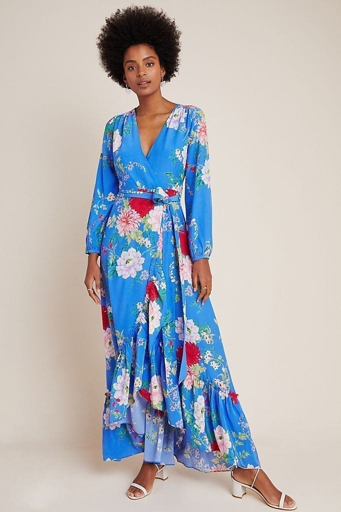 YUMI KIM Azure Wrap Maxi Dress
