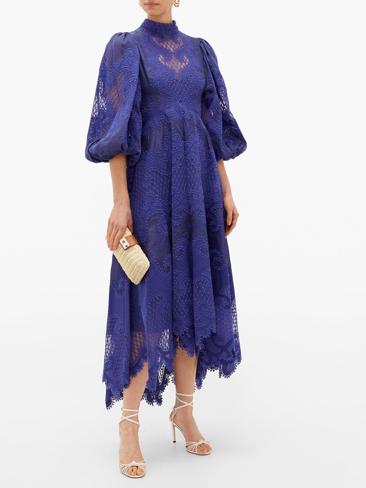 ZIMMERMANN Brightside Embroidered Linen-organza Dress