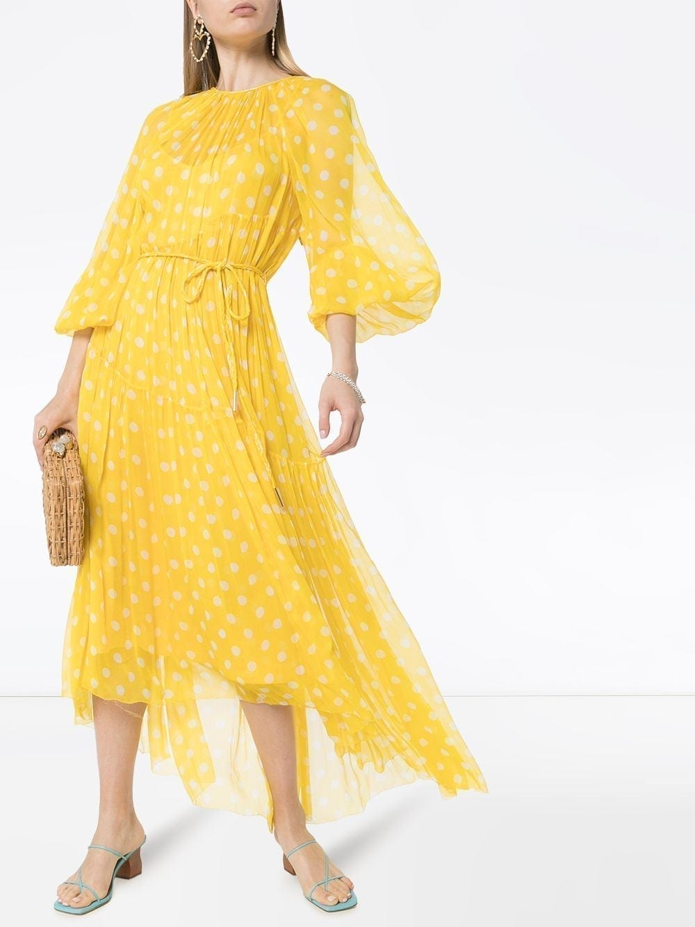 ZIMMERMANN Brightside Swing Polka-dot Silk Dress