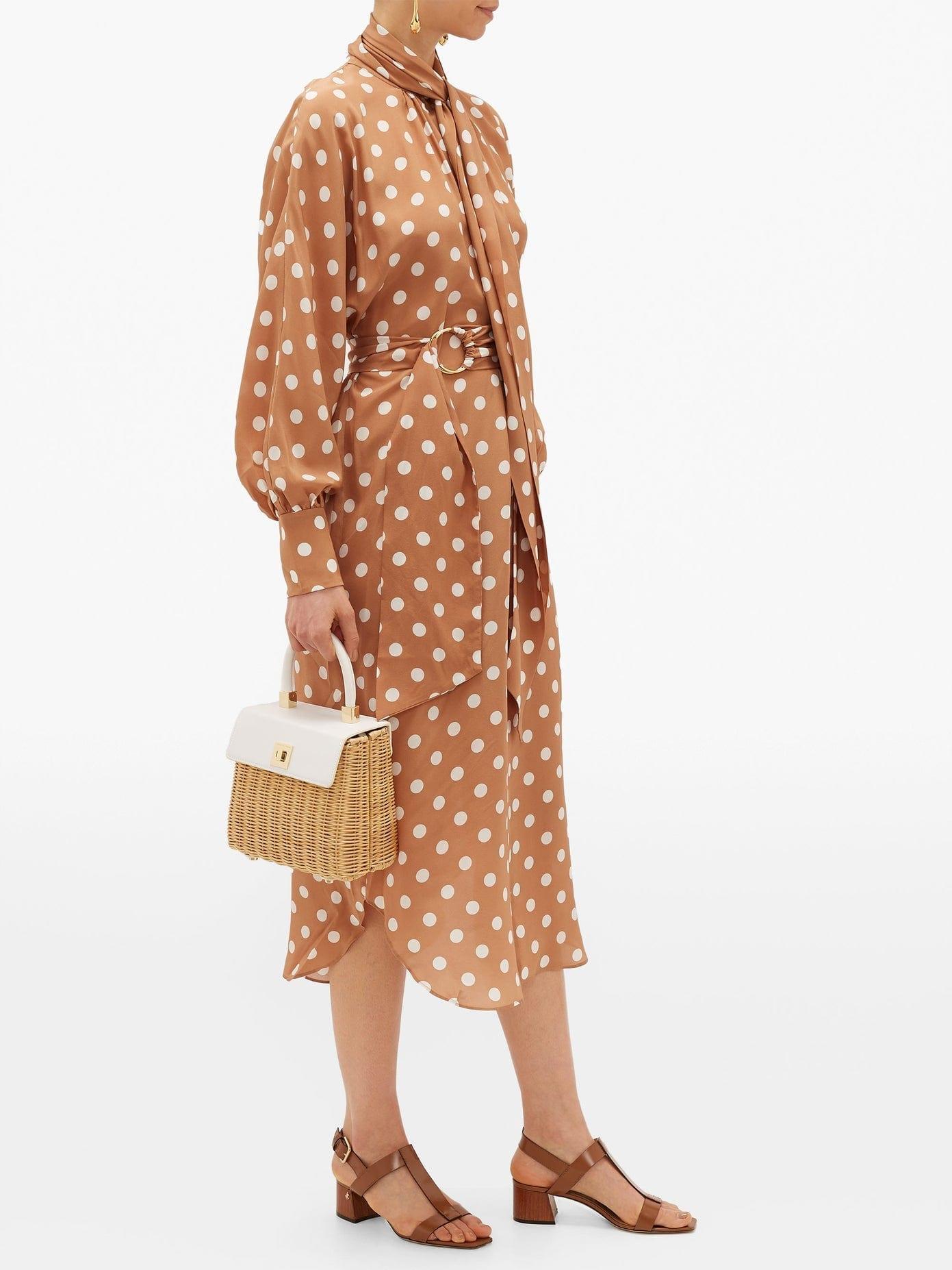 ZIMMERMANN Polka-dot Silk Crepe-de-chine Dress