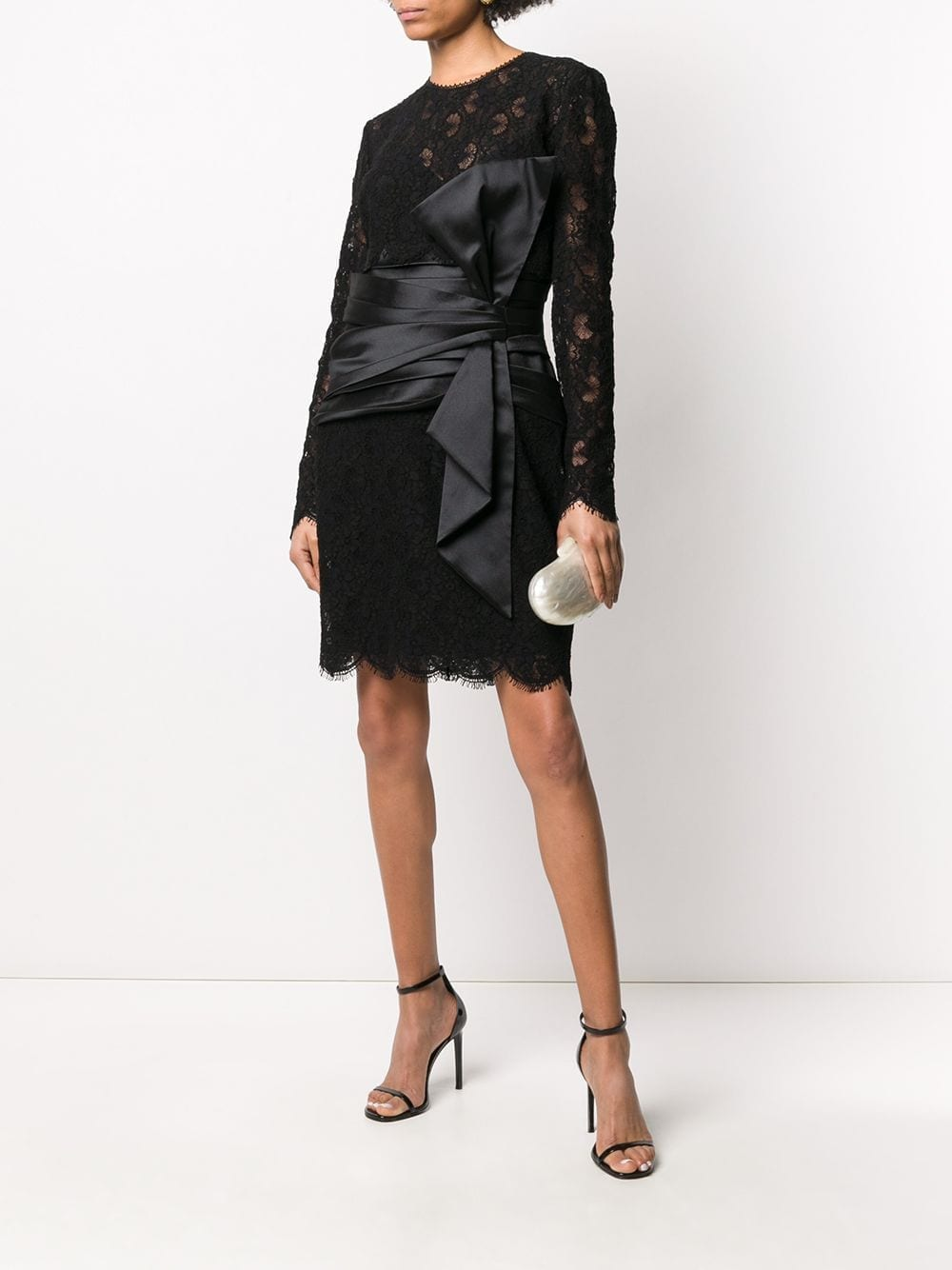 ZUHAIR MURAD Lace-panel Midi Dress