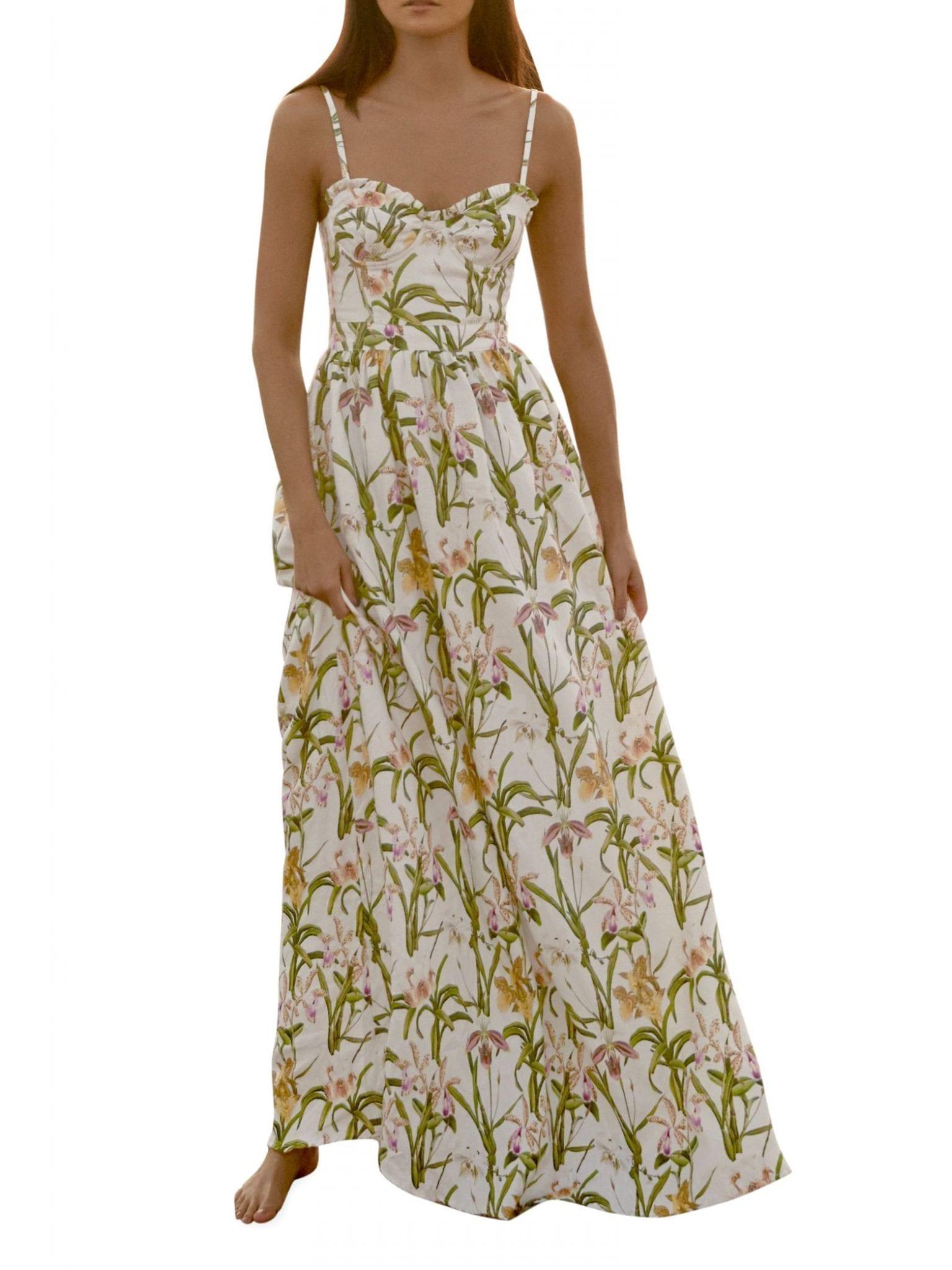 AGUA BY AGUA BENDITA Aracia Bustier Maxi Dress