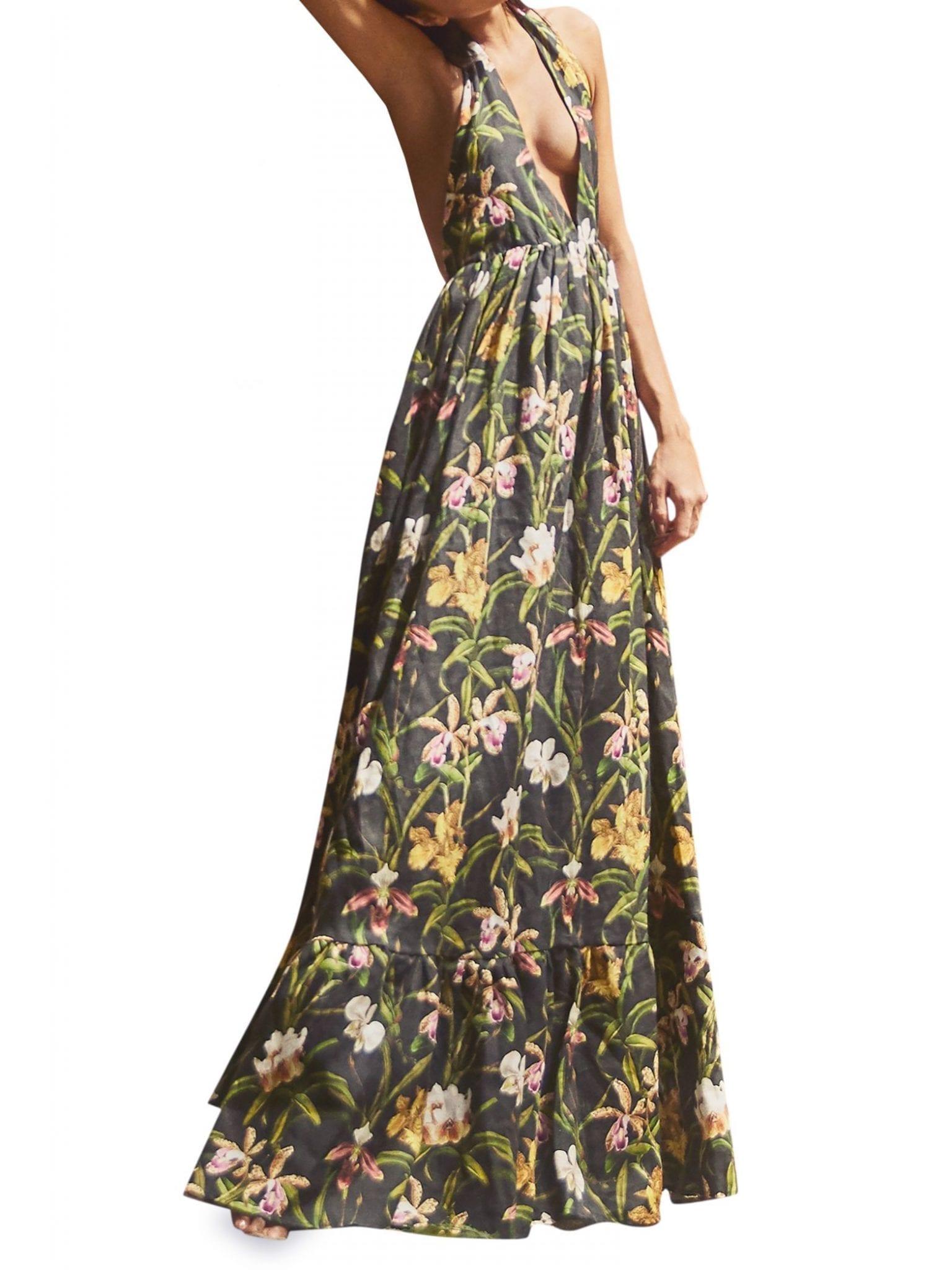AGUA BY AGUA BENDITA Olivia Floral Maxi Dress